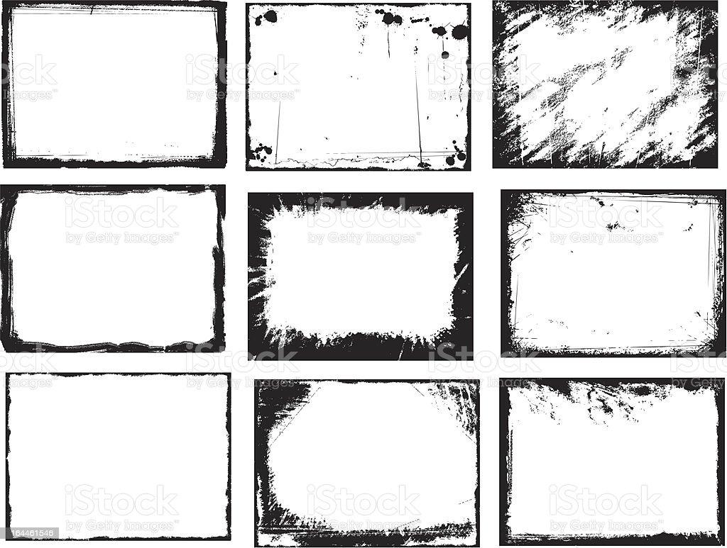 Cadres de Grunge - Illustration vectorielle