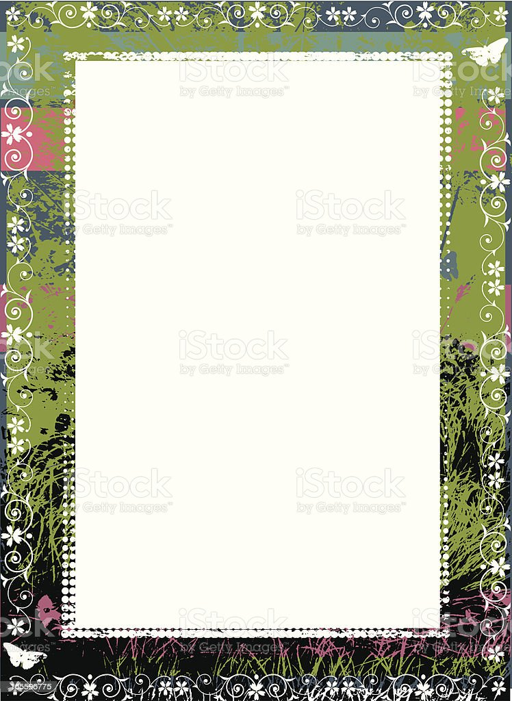 Grunge grass border royalty-free grunge grass border stock vector art & more images of butterfly - insect