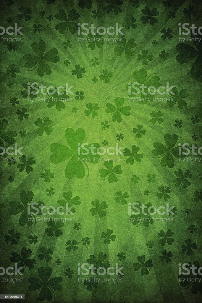 grunge green st. patrick background - Royalty-free Abstract stock illustration