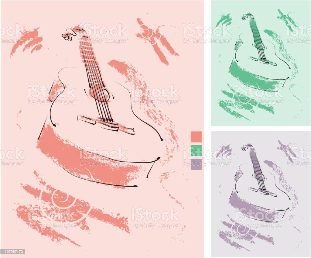 Grunge Guitar royalty-free stock vector art