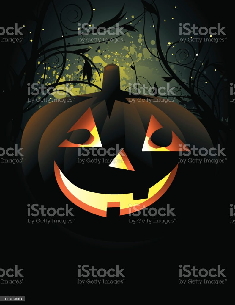 Grunge Halloween Background royalty-free stock vector art