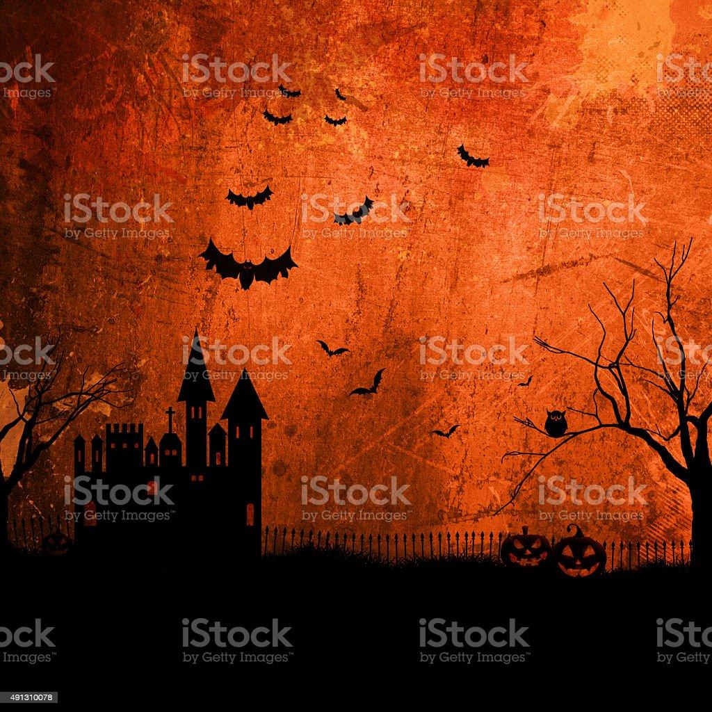 Grunge Halloween background vector art illustration