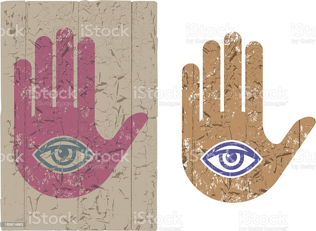 Grunge hand eye symbol royalty-free grunge hand eye symbol stock vector art & more images of concepts & topics