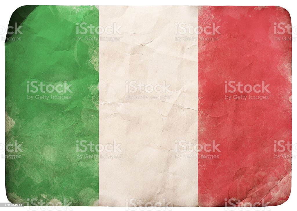 Grunge Italy flag royalty-free stock vector art