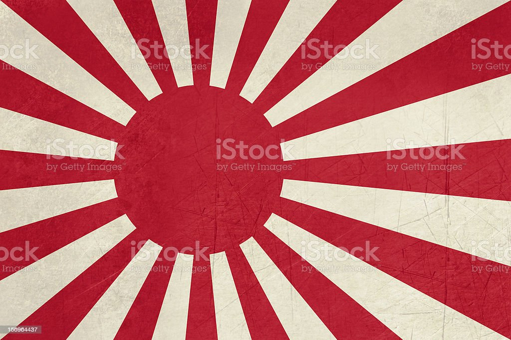Grunge Japanese Navy Ensign royalty-free stock vector art