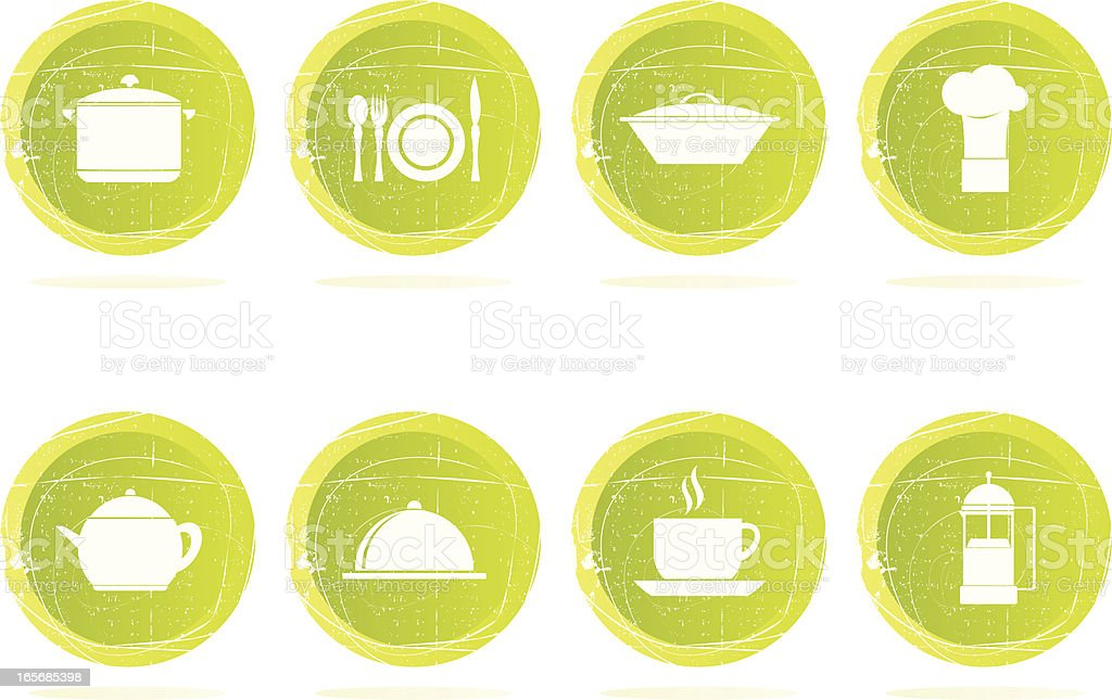 Grunge Kitchen Icons royalty-free stock vector art
