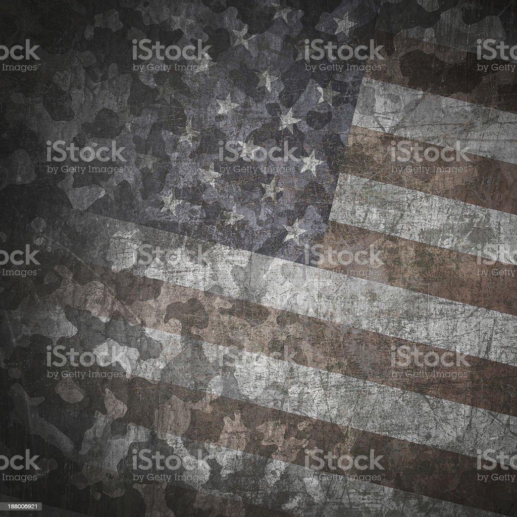 Grunge military background vector art illustration