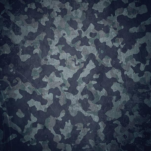 Grunge militärischen Hintergrund in Blau – Vektorgrafik