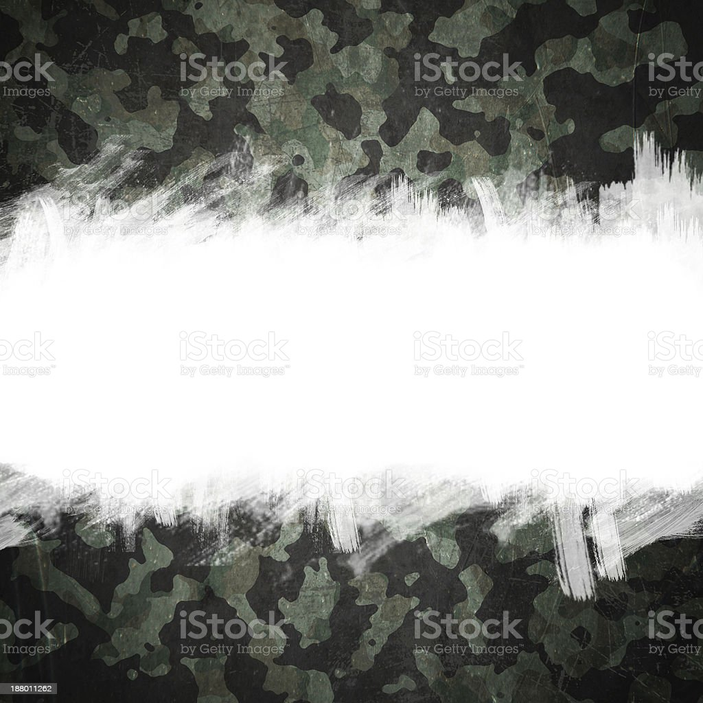 Grunge military camouflage background with space for text vector art illustration