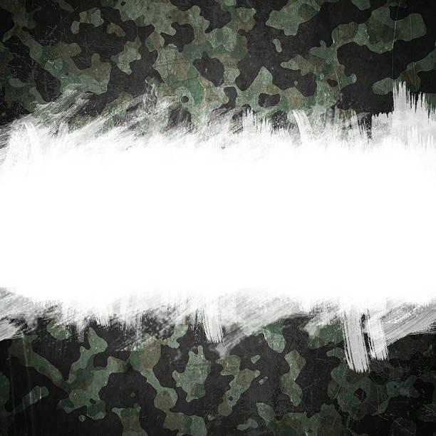 Grunge militärischen camouflage-Hintergrund mit Platz für text – Vektorgrafik
