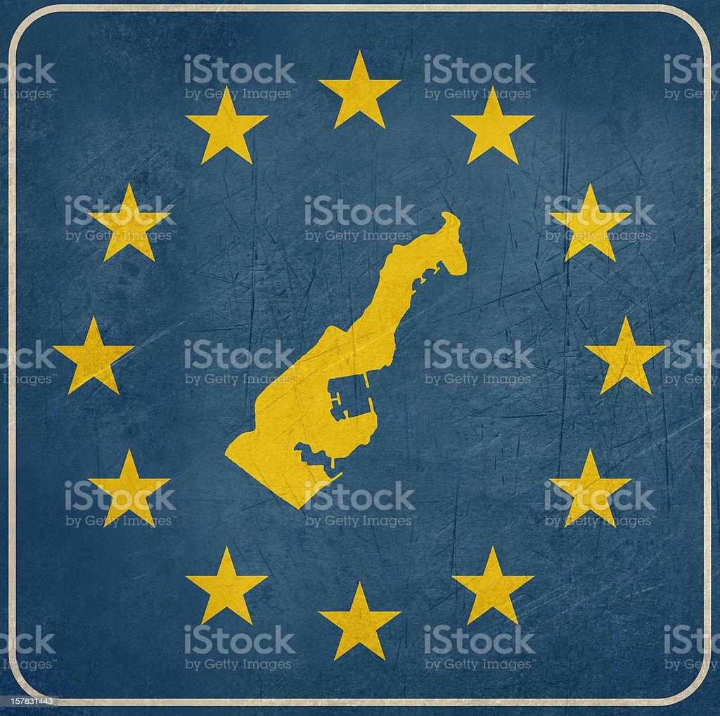Grunge Monaco European button royalty-free stock vector art