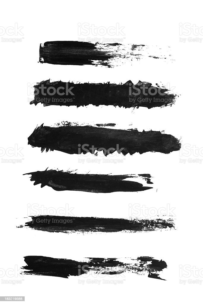 Grunge paint strokes royalty-free grunge paint strokes stock vector art & more images of abstract
