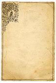 istock Grunge paper owl frame 173894342