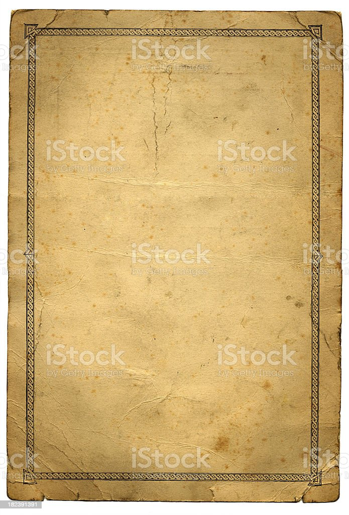 Grunge paper with pattern border royalty-free stock vector art