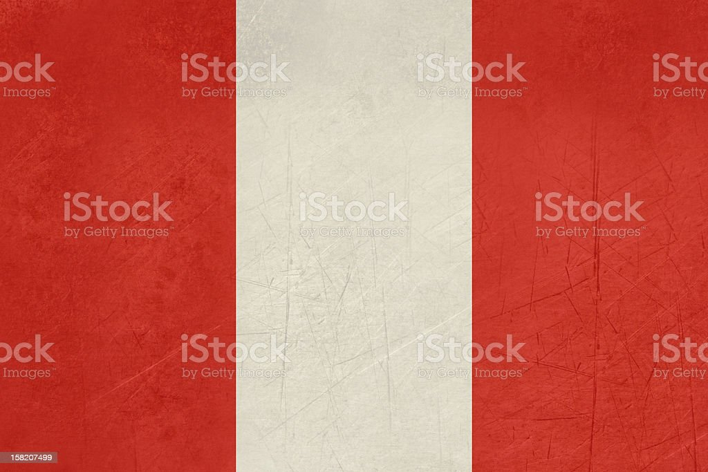 Grunge Peru Flag royalty-free stock vector art