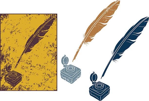 Grunge Plume d'oie - Illustration vectorielle