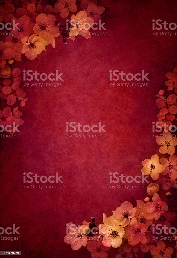 grunge red flower background royalty-free stock vector art