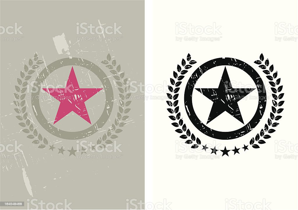 Grunge red star royalty-free stock vector art