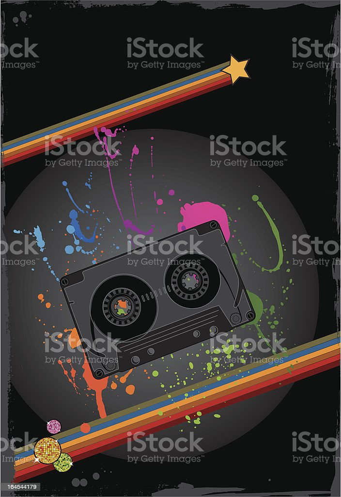 Grunge retro audio casette background royalty-free grunge retro audio casette background stock vector art & more images of arts culture and entertainment