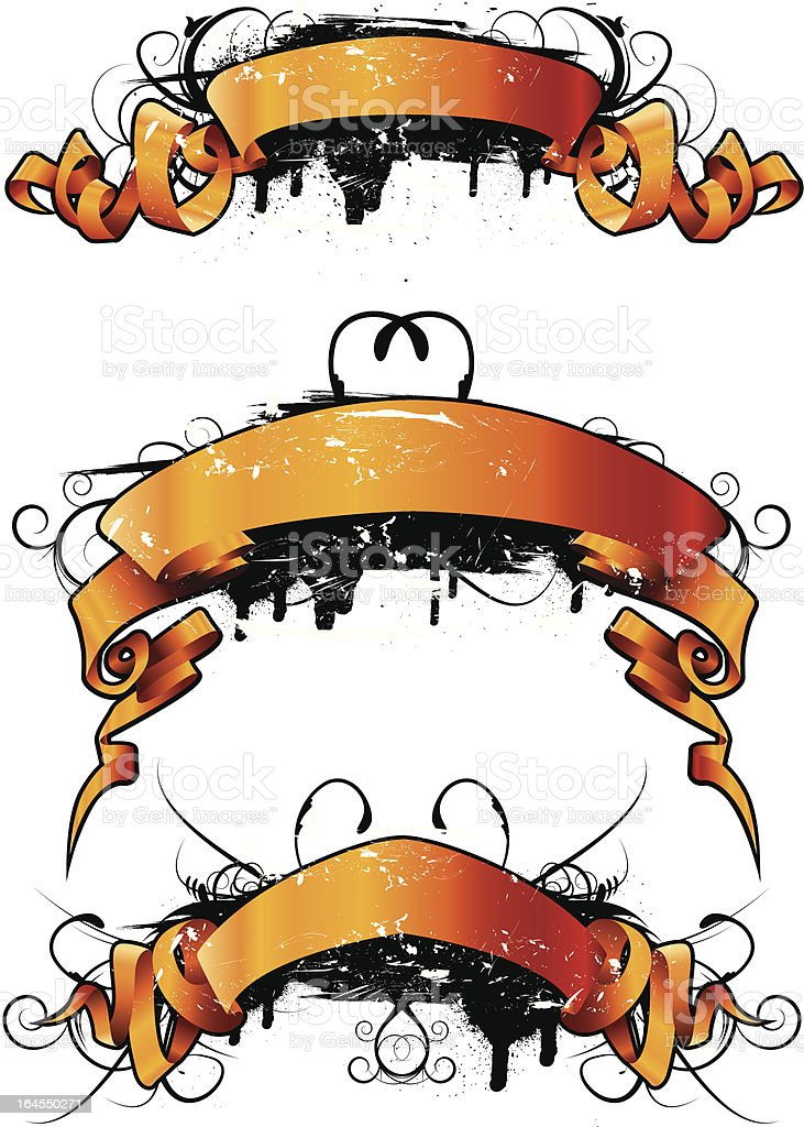 Grunge Ribbons royalty-free grunge ribbons stock vector art & more images of celebration event