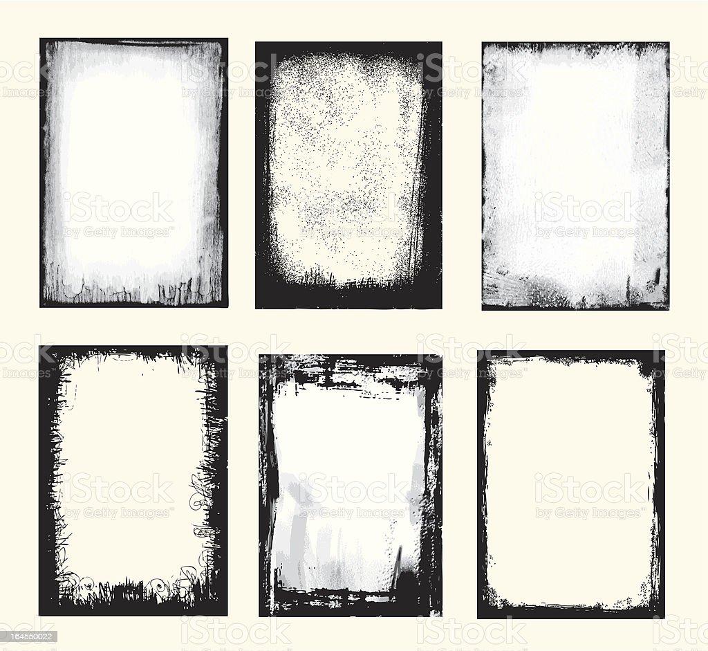 Grunge Set vector art illustration
