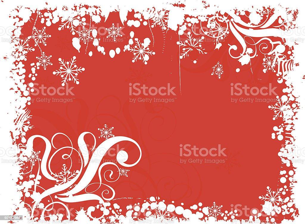 Grunge Schneeflocken Hintergrund, Vektor Lizenzfreies grunge schneeflocken hintergrund vektor stock vektor art und mehr bilder von abstrakt
