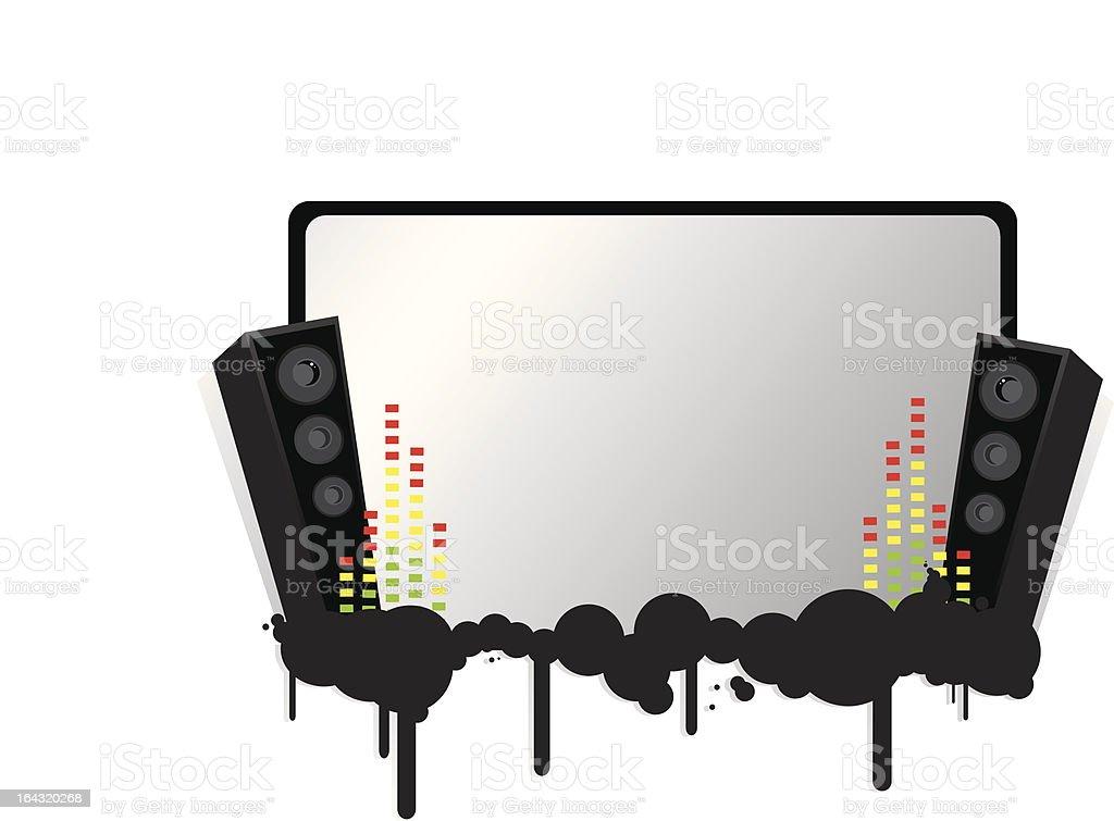 Grunge Speakers w/Screen vector art illustration