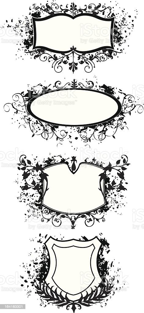 grunge style banner and shield designs royalty-free grunge style banner and shield designs stock vector art & more images of abstract
