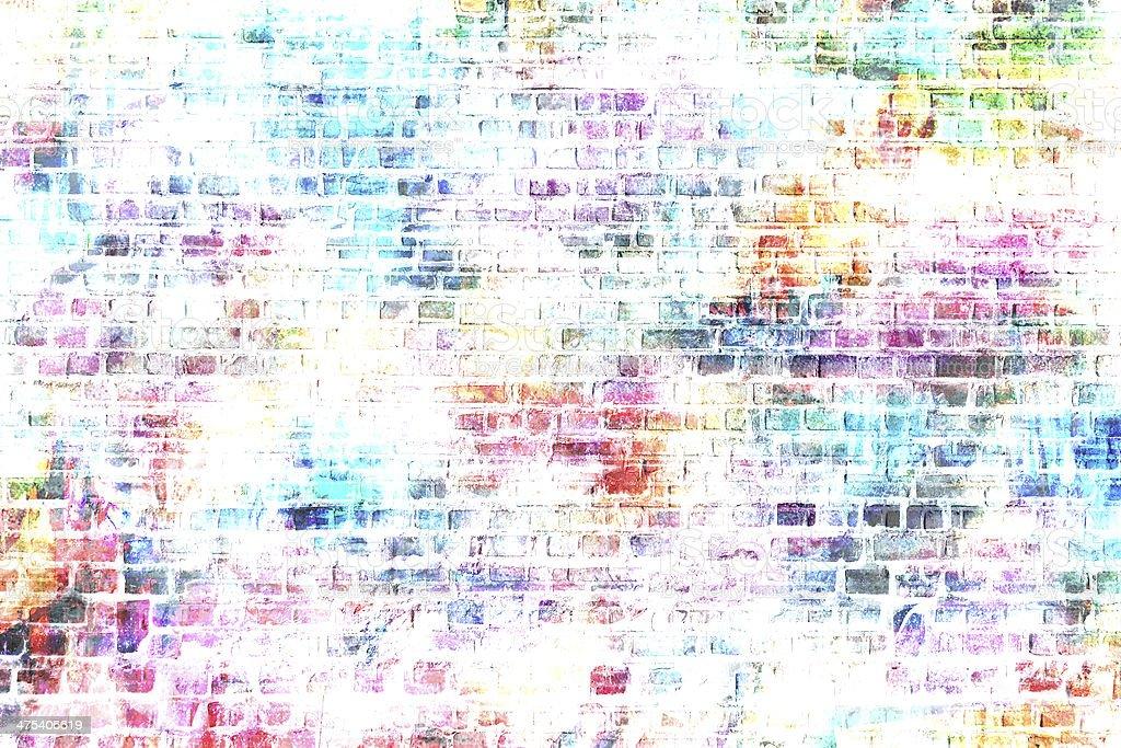 Arrière-plan coloré dans le style grunge mur - Illustration vectorielle