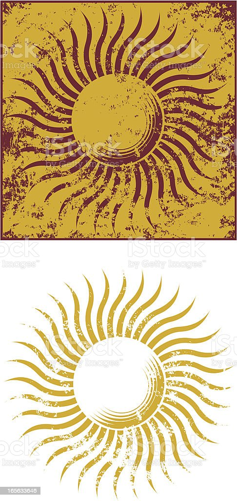 Grunge sun four royalty-free stock vector art