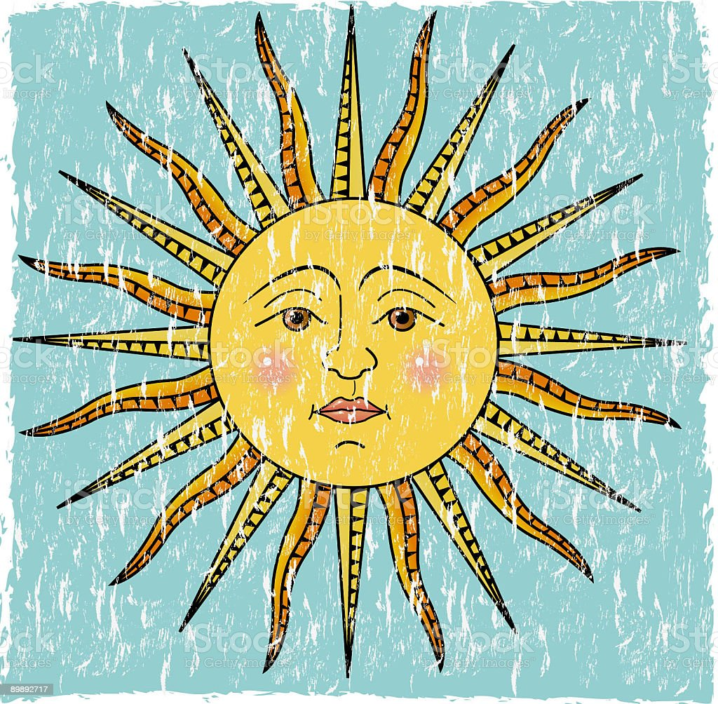 Grunge sun royalty-free grunge sun stock vector art & more images of antique