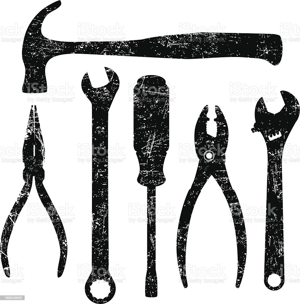Grunge Tools royalty-free stock vector art