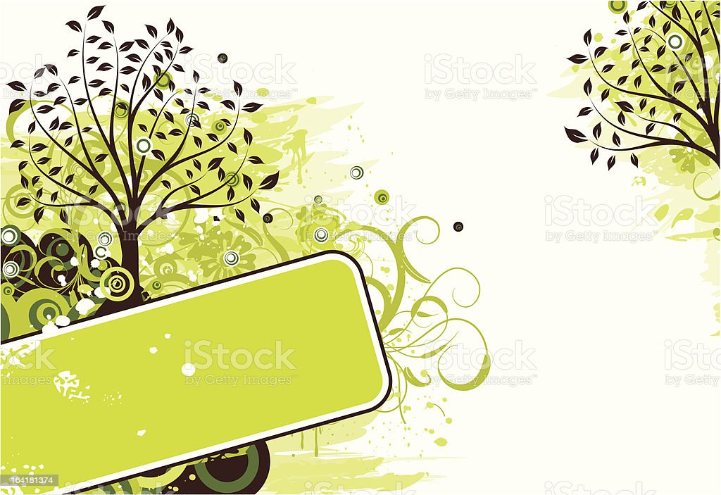 Grunge tree background royalty-free stock vector art