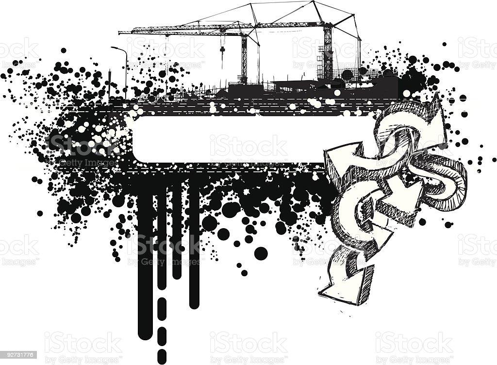 grunge urban banner royalty-free stock vector art
