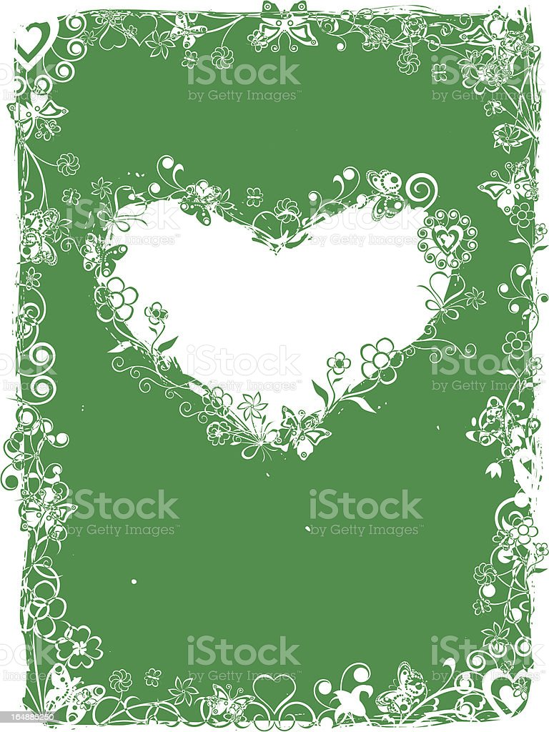 Grunge valentine frame, background, vector royalty-free grunge valentine frame background vector stock vector art & more images of abstract