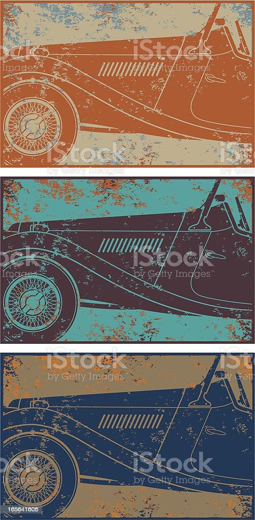 Grunge vintage car royalty-free stock vector art