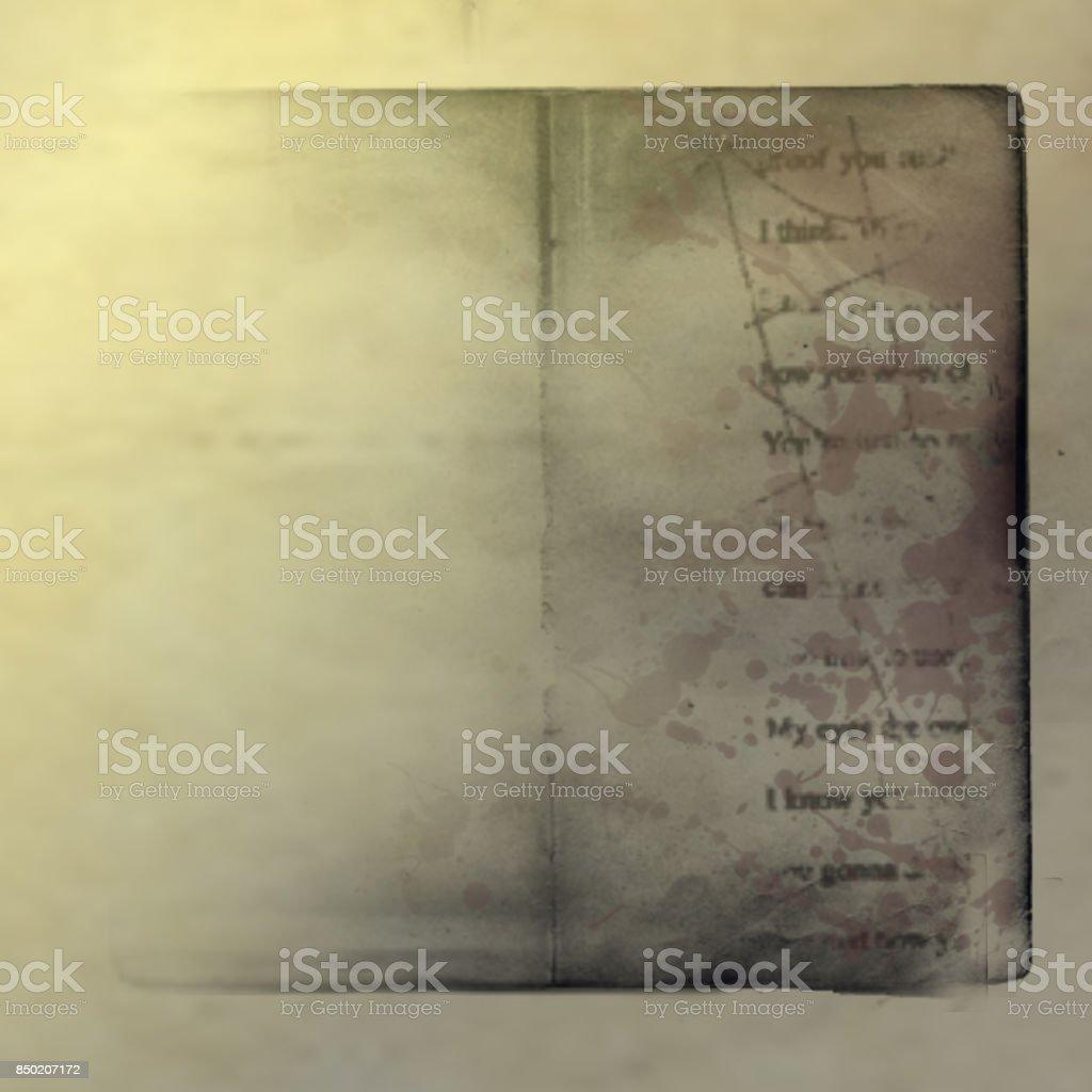 Grunge Vintage Old Book Paper Background Illustration Of Aged Worn And