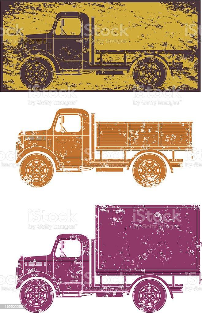Grunge vintage trucks royalty-free grunge vintage trucks stock vector art & more images of antique