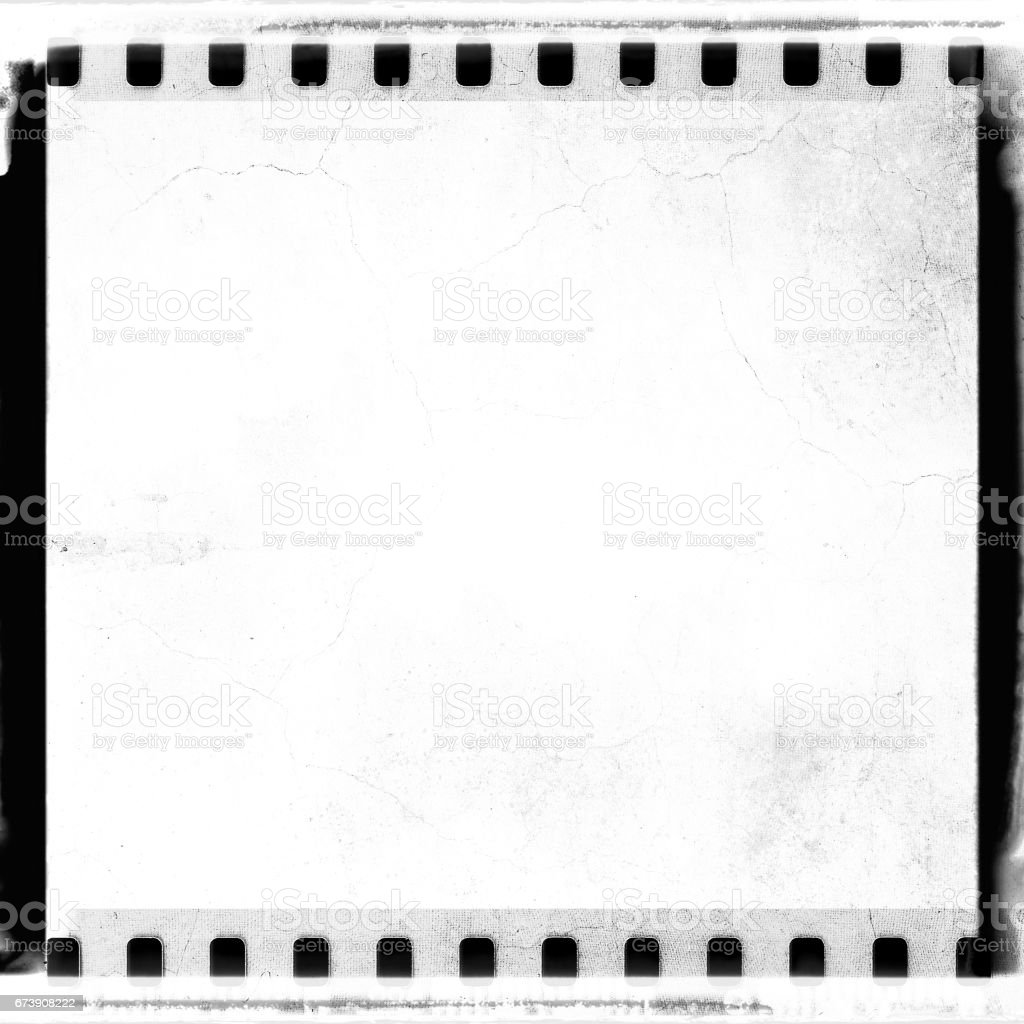 Grunge White Film Strip Frame With Cracked Stock Vector Art & More ...