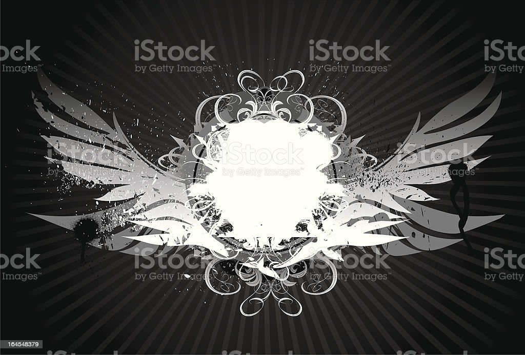 Grunge Wing Art II royalty-free stock vector art