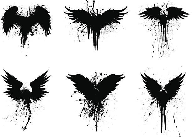 grunge alette - illustrazione arte vettoriale
