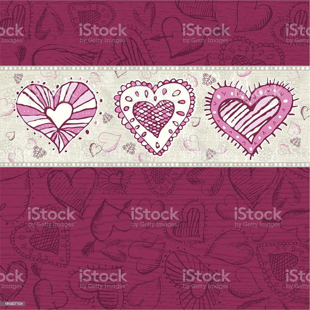 grunge wooden background with hand draw  hearts royalty-free grunge wooden background with hand draw hearts stock vector art & more images of abstract