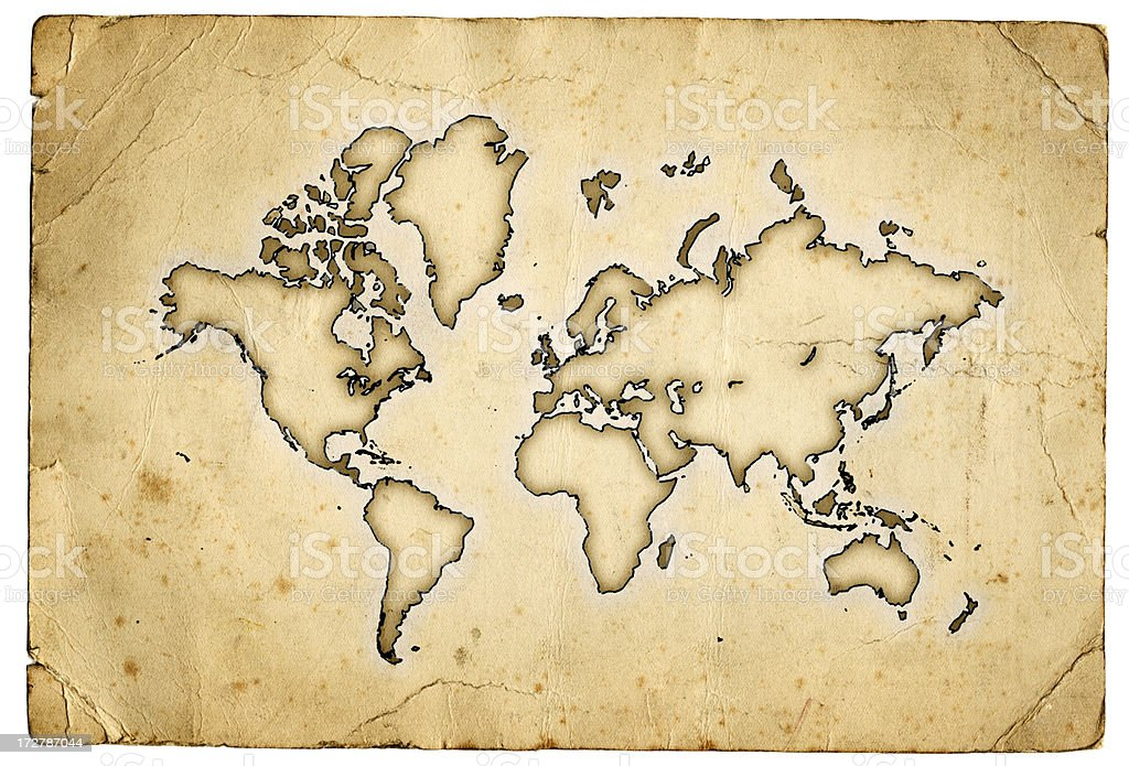 Grunge world map XXL vector art illustration