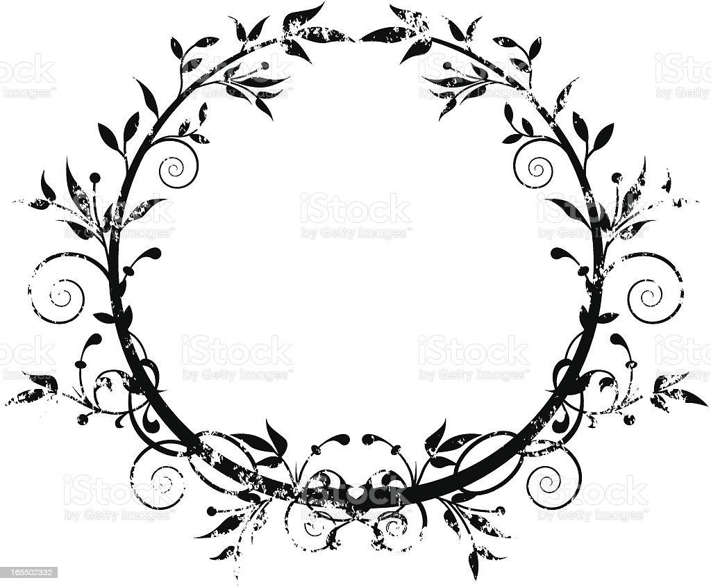 Grunge wreath. royalty-free stock vector art