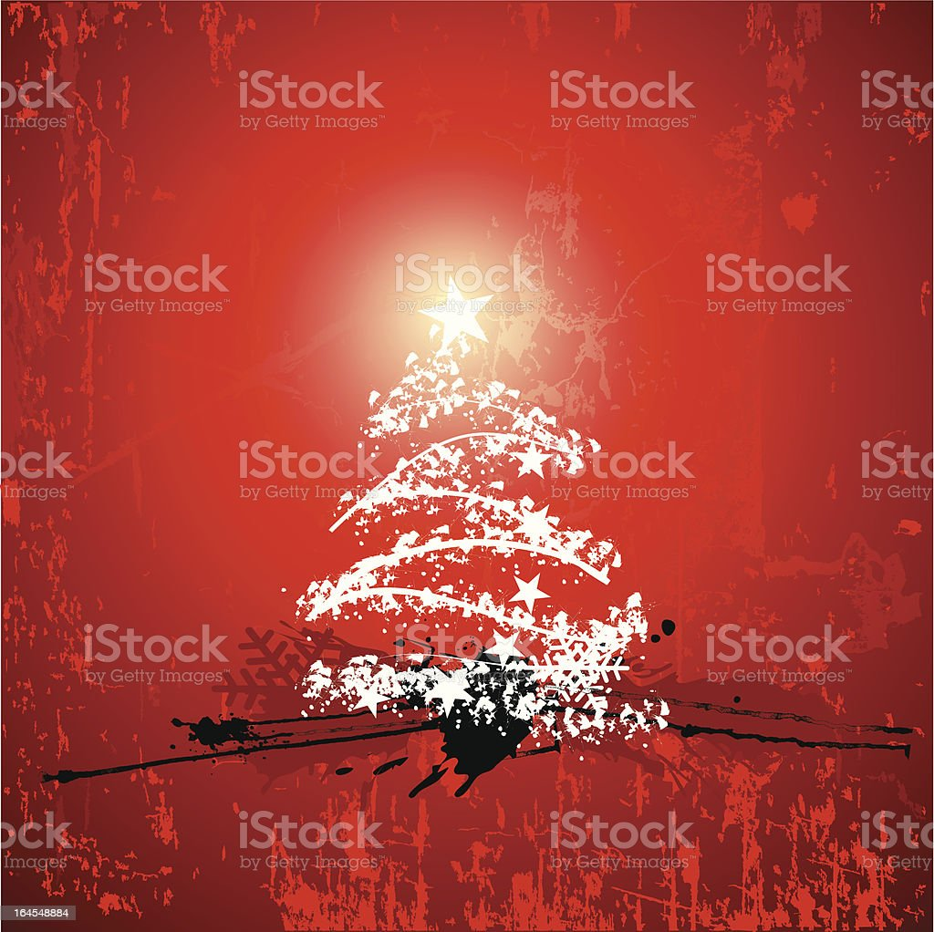 Grunge xmas tree royalty-free stock vector art