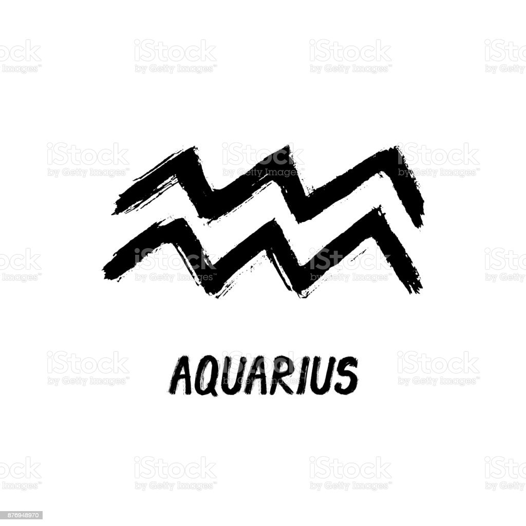 Grunge zodiac signs aquarius the waterbearer stock vector art grunge zodiac signs aquarius the water bearer royalty free grunge zodiac signs biocorpaavc Image collections