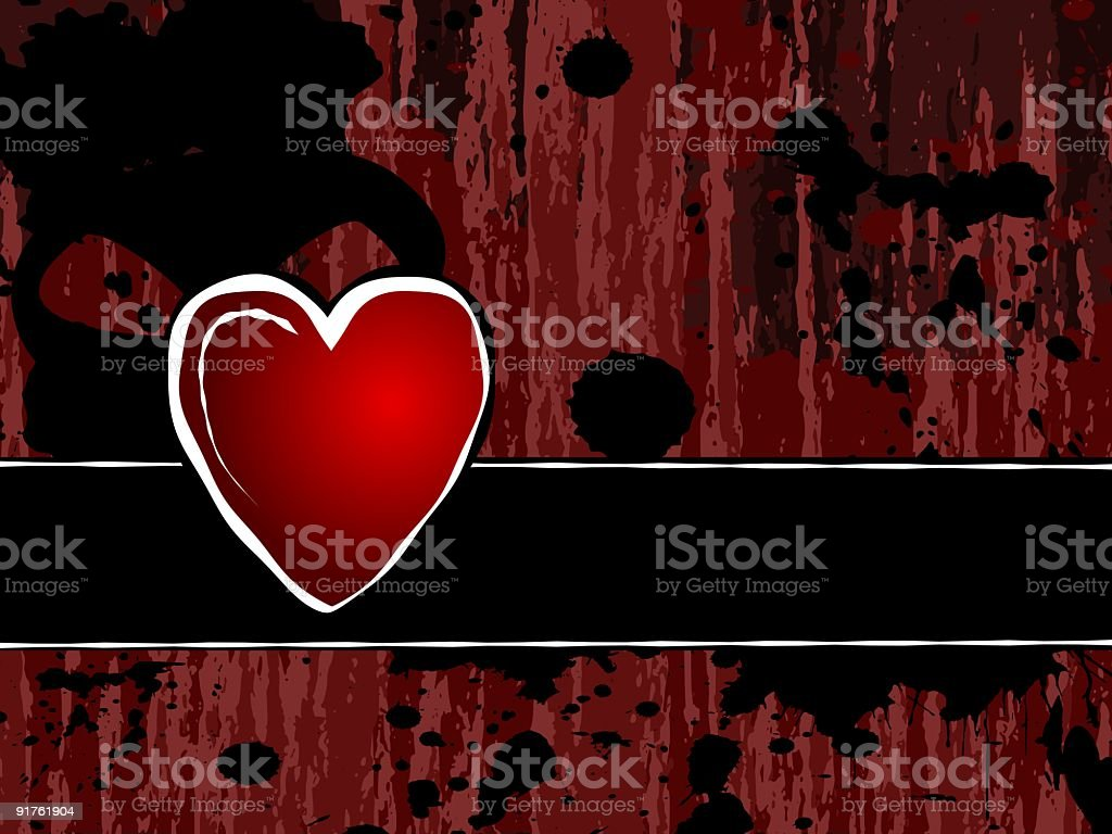 Grungy heart royalty-free grungy heart stock vector art & more images of abstract