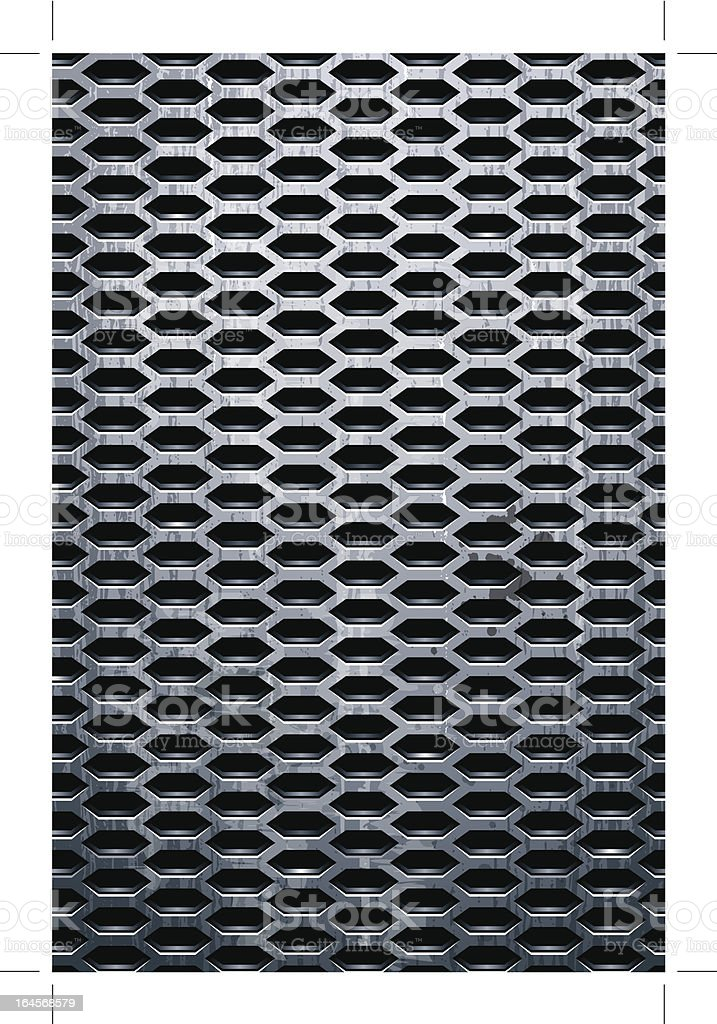 Grungy metal texture royalty-free stock vector art