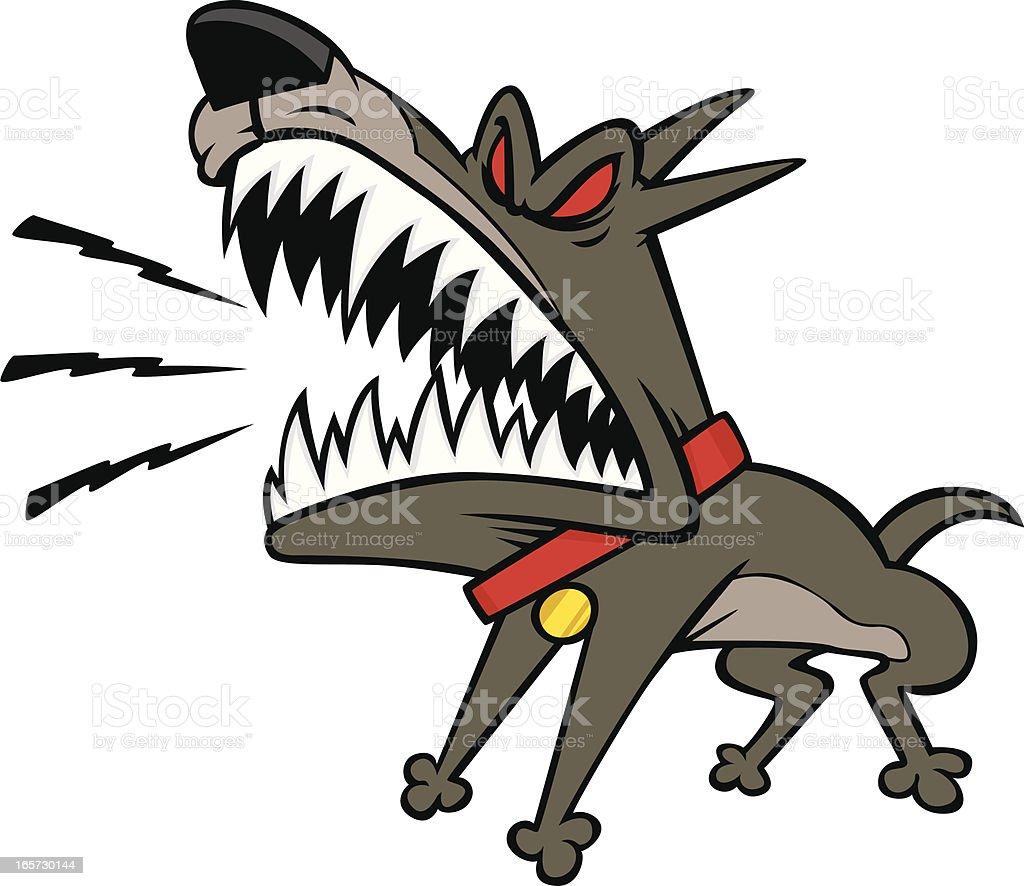 guard dog vector art illustration