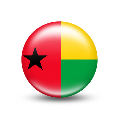 Guinea - Bissau country flag with white shadow